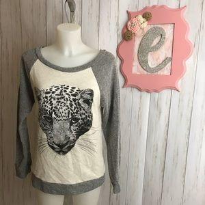 Papaya Leopard Graphic Sweater Size M NWT
